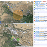 earthquake data showing Himalayas seismic activity
