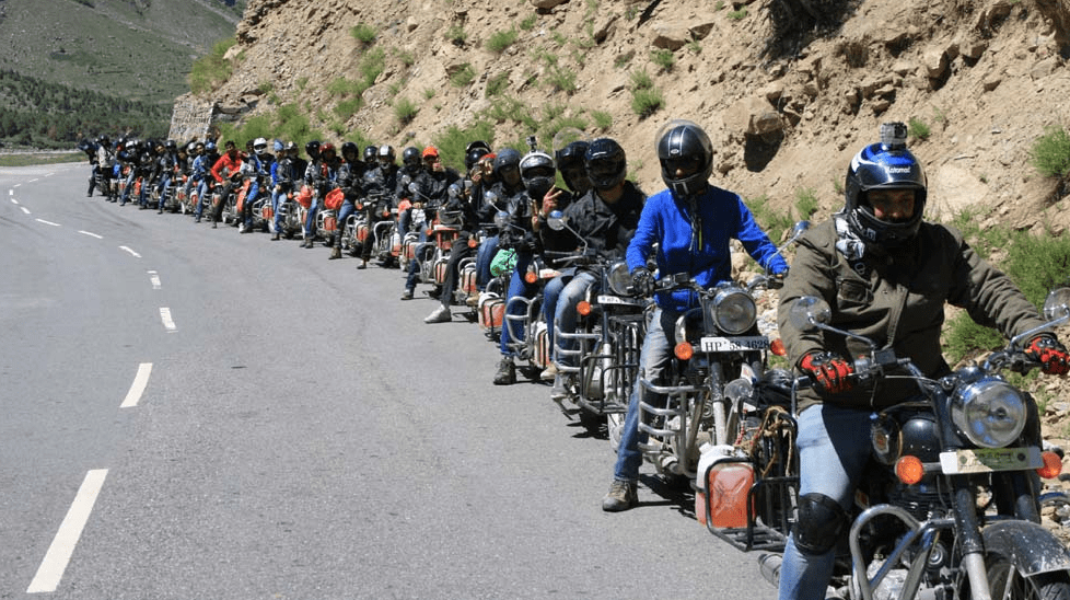 Motorbikers Plying on Leh Manali Highway