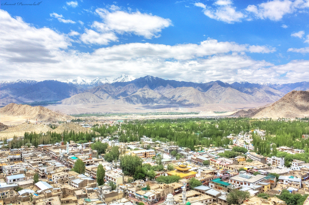 Leh city in Ladakh, Kashmir India