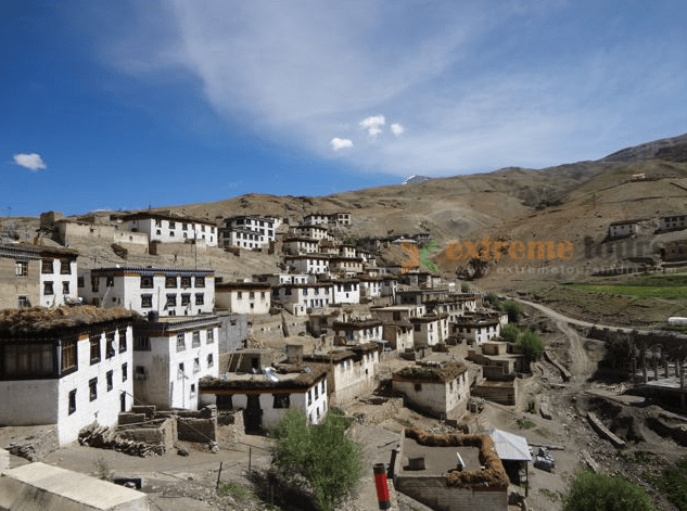 Kibber Village world's highest motor able road connected village spiti valley India