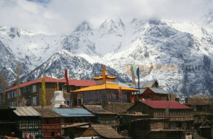 view of kinnar kailash from kalpa kinnaur India