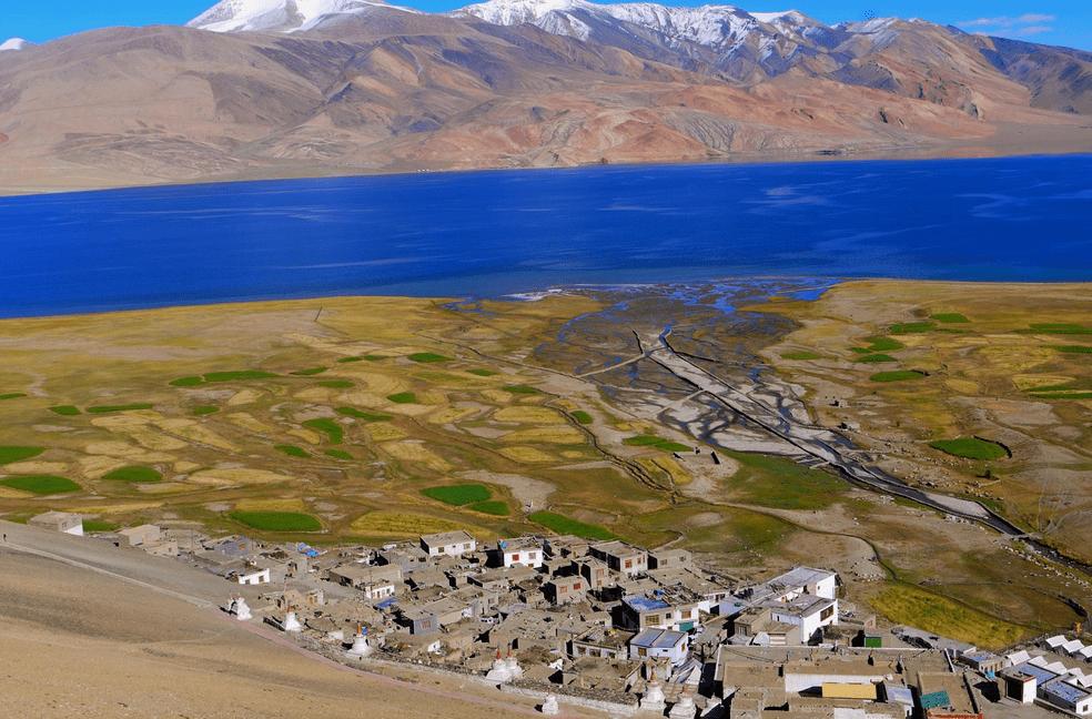 Korzok village stupa. ladakh