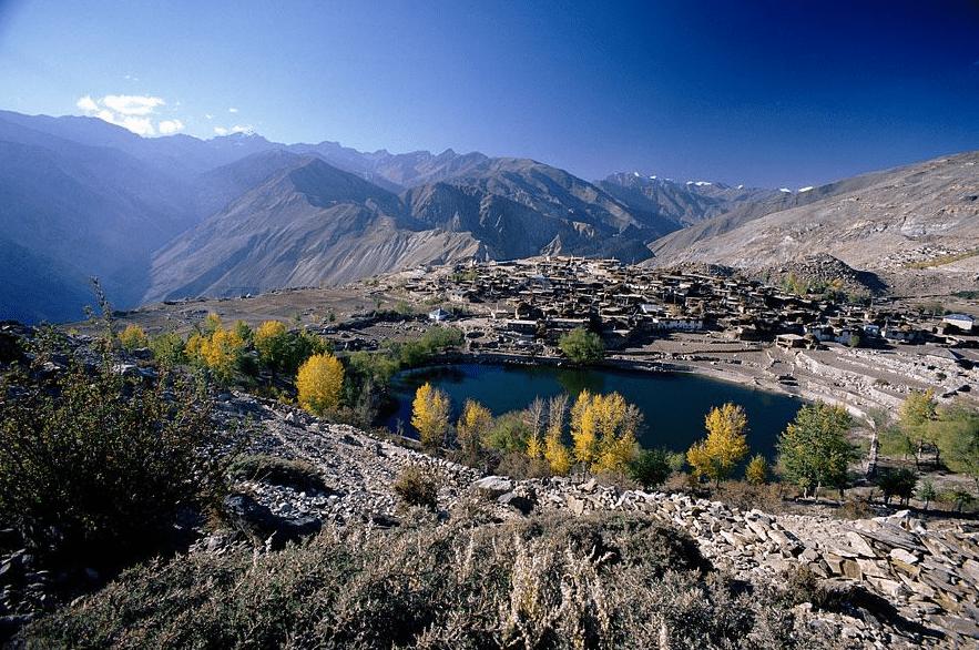 Nako lake, spiti valley, India