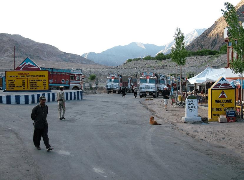 Upshi village, ldakh, India