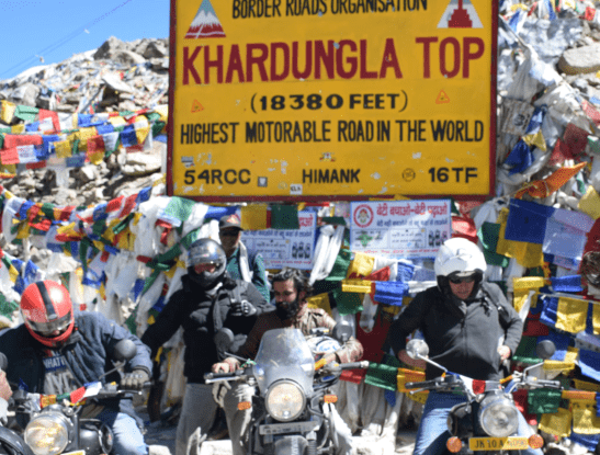 Khadungla top motorcycle tour
