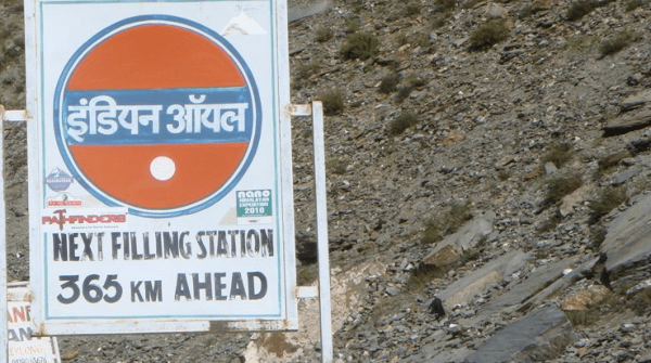 Fuel stations on the way to Ladakh