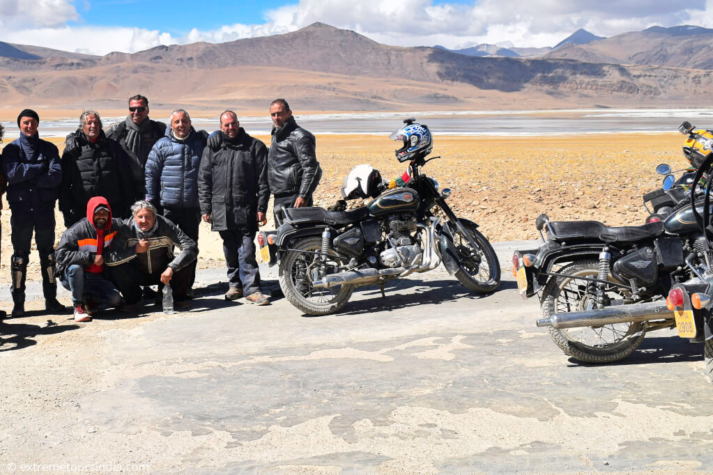Leh Ladakh bike trip - Bikers posing in Ladakh