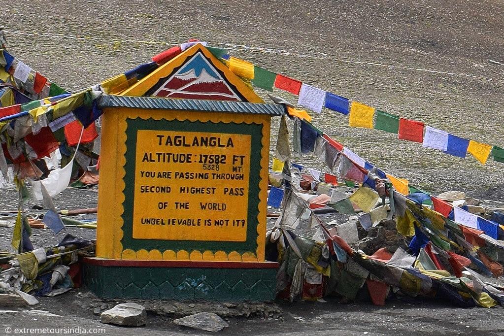 Tanglang La Pass - second highest motorable pass